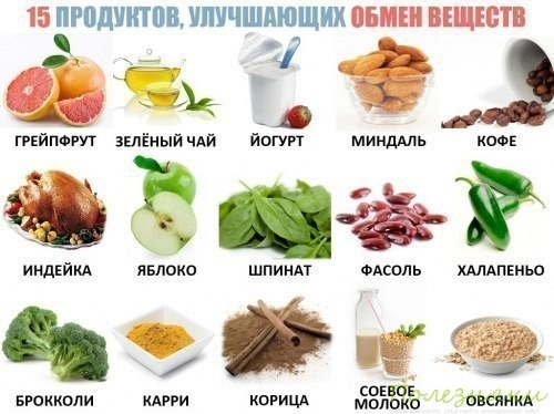 15 продуктов улучшающих обмен веществ