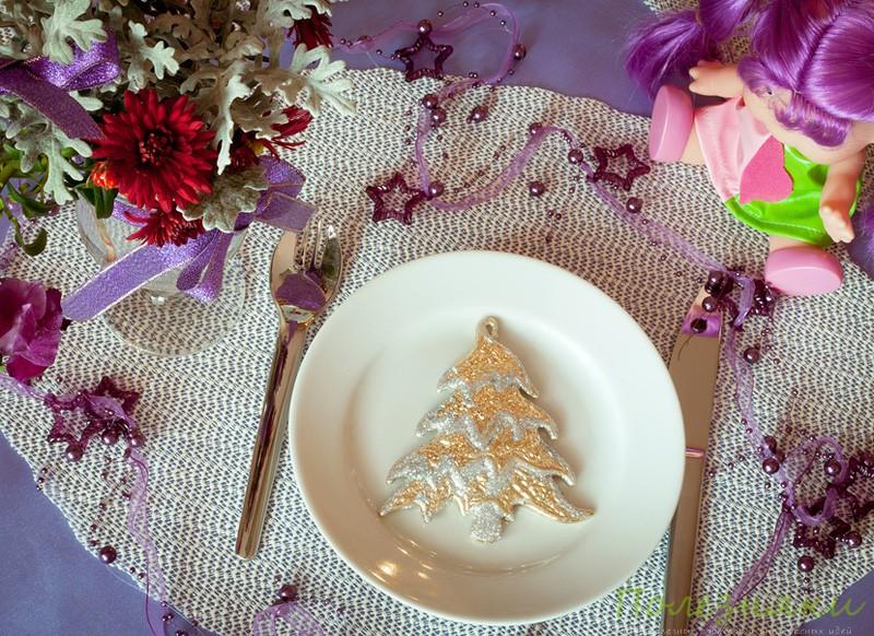 Нвоогодняя елка на тарелке