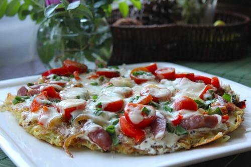 Вкусная пицца из картошки4