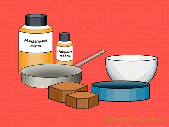 1 налейте в миску
