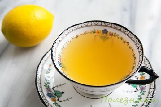 Имбирно-медовый чай с лимоном и яблоком