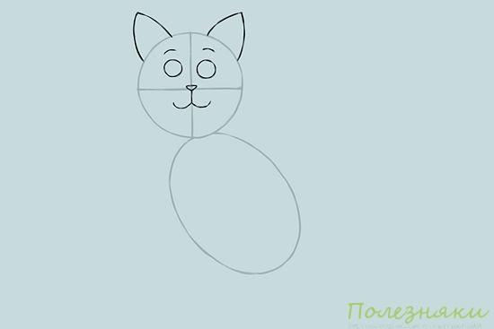 Как нарисовать кошку 2