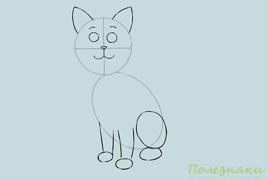 Как нарисовать кошку 3