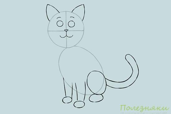 Как нарисовать кошку 4