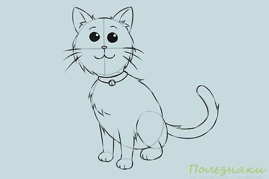 Как нарисовать кошку 6