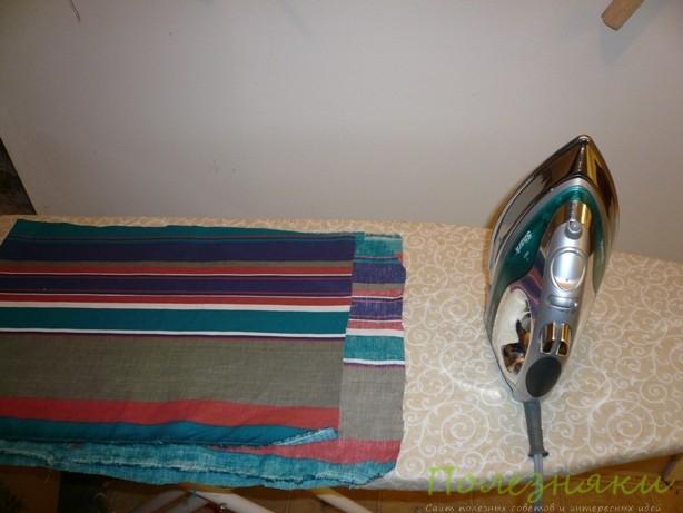 Постирайте и погладьте ткани