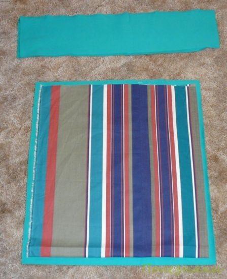 Сложите два слоя ткани
