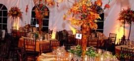 5 идей для украшения свадебного стола осенью