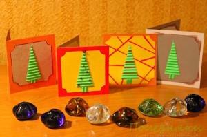 Новогодние мини-открытки