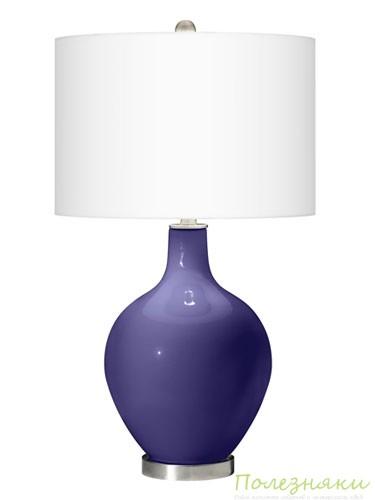 Настольная лампа благородного фиолетового цвета