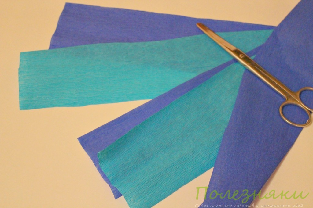 Нарезаем 10-15 полосок бумаги