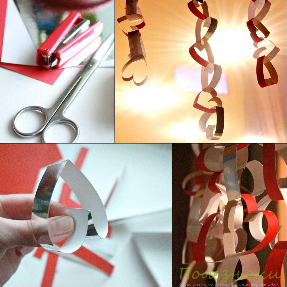 Оформляем комнату ко Дню всех влюбленных: мастер-класс по изготовлению романтичной гирлянды