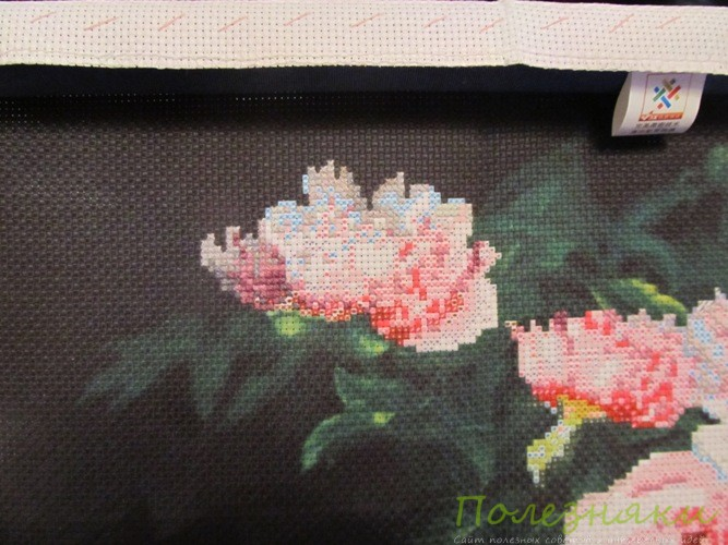 Цветок 3D вышивки