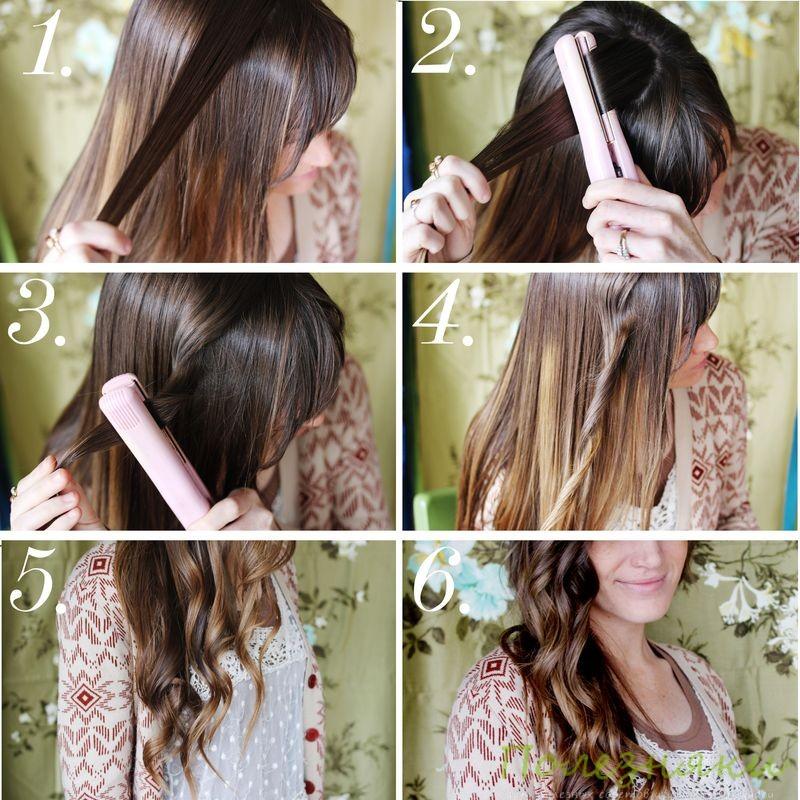 Утюжок для волос чтобы делать кудри фото