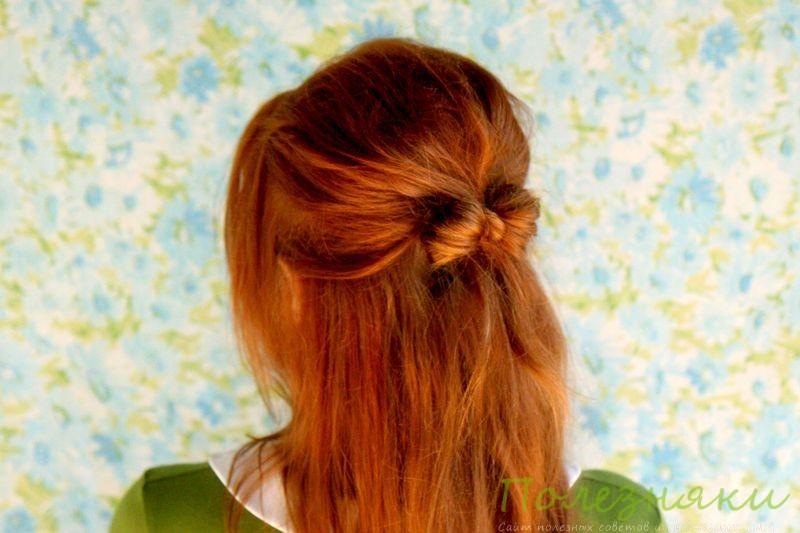 Как сделать бантики из волос 2