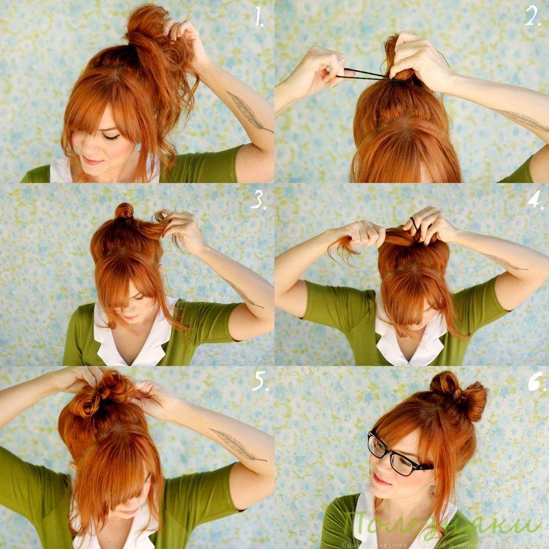 Как сделать бантики из волос инструкция