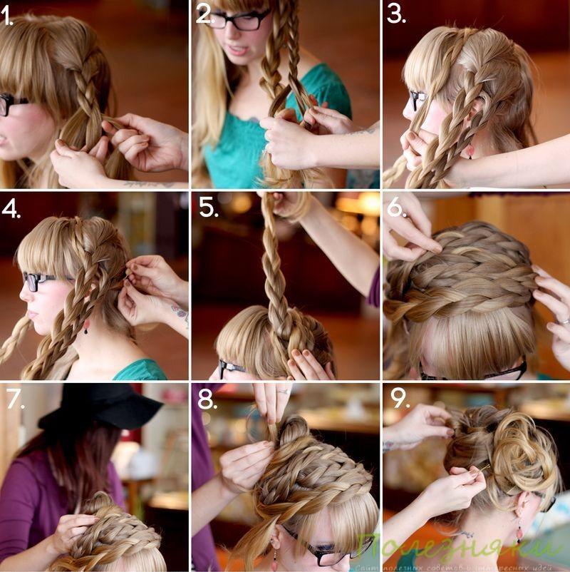 Как сделать греческую прическу из кос инструкция