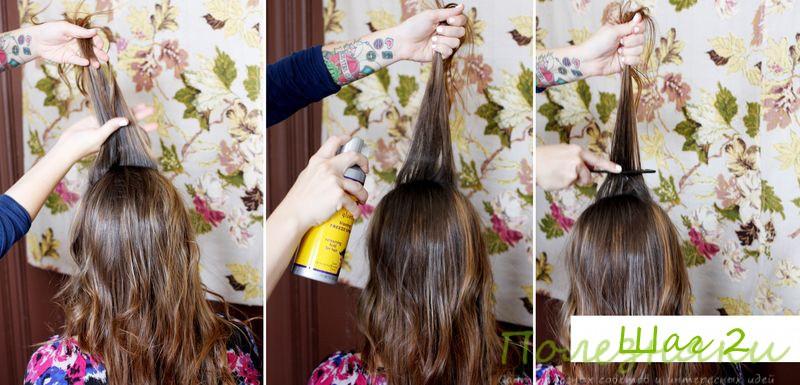 Как сделать прическу кокон или улей 4