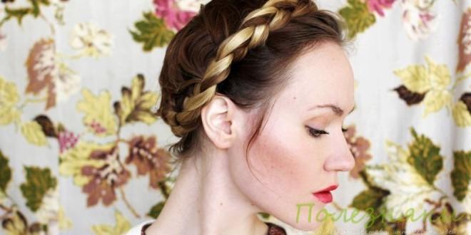 Коса в виде цветов