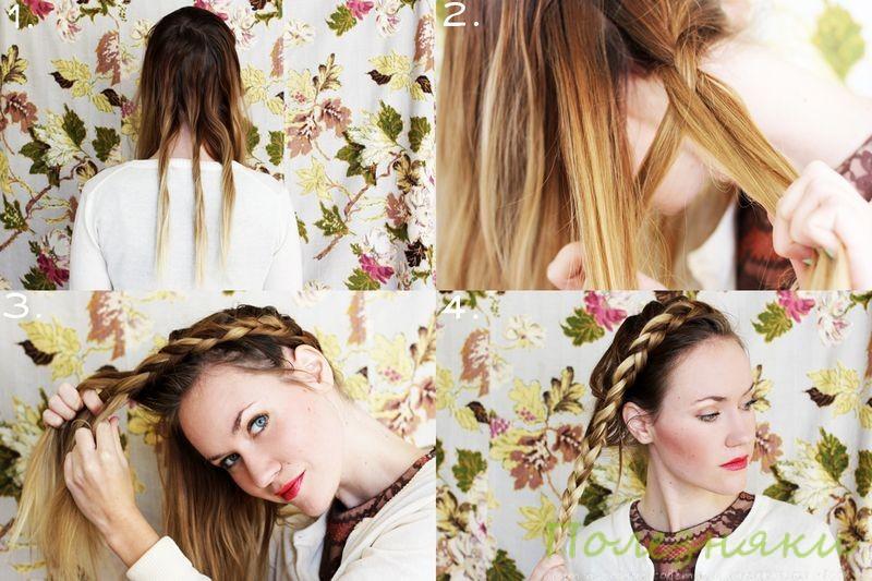 Как заплести косу в виде короны инструкция