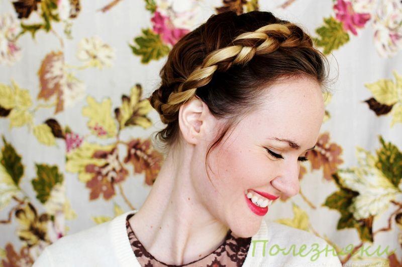 Как заплести косу в виде короны
