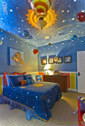 детская комната на космическую тематику