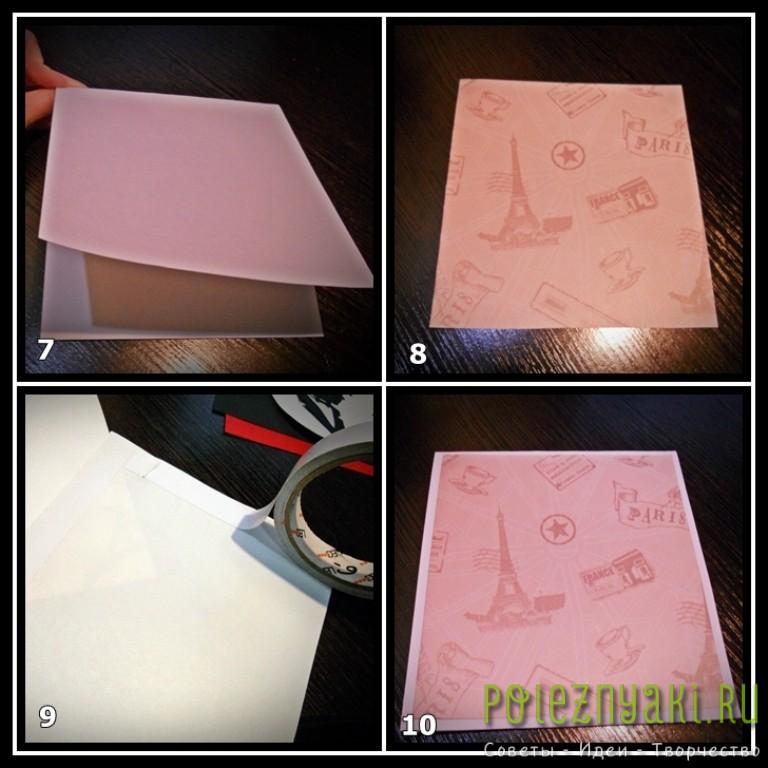 Из бумаги для скрапбукинга вырезаем прямоугольники