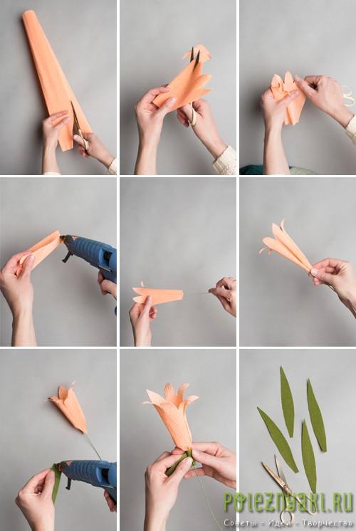 Делаем бумажную лилию инструкция