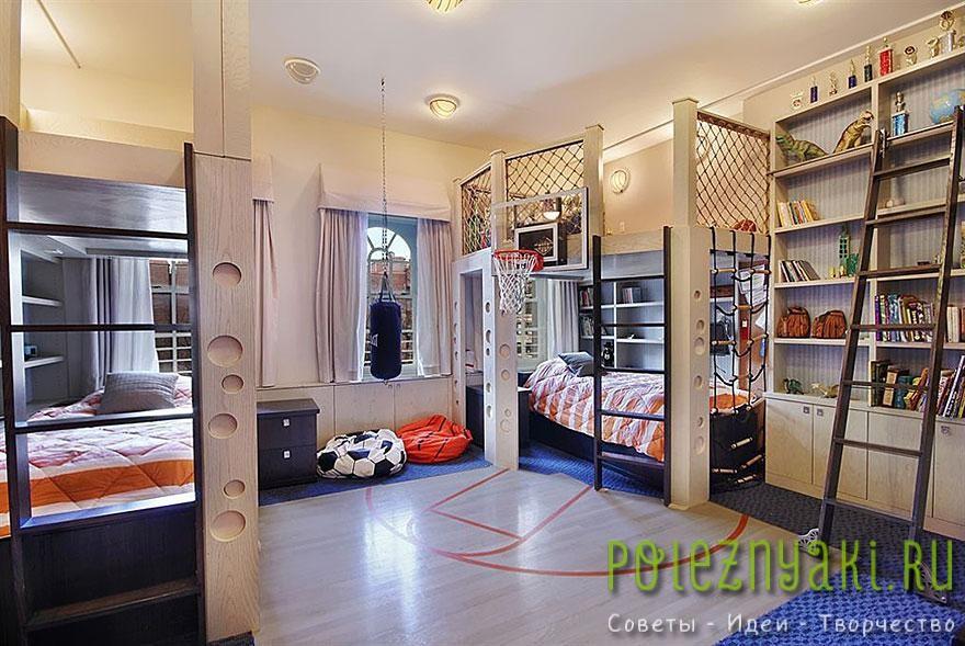 19. Спальня баскетбольная площадка