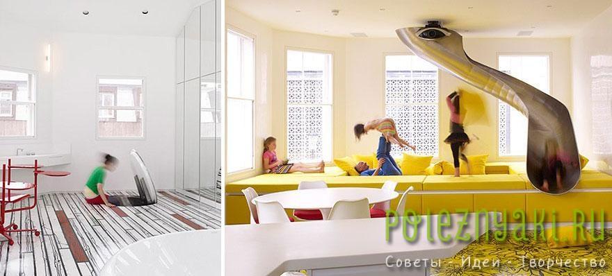 7. Детская комната с секретным спуском