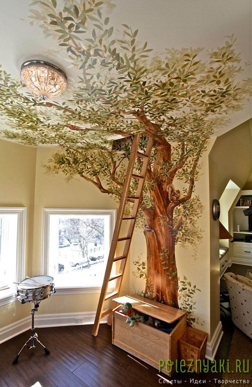 8. Секретная комната в дереве