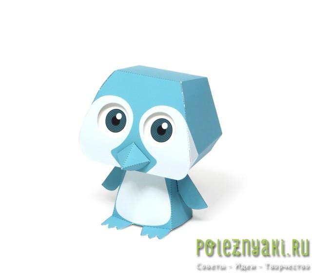 пингвин из бумаги