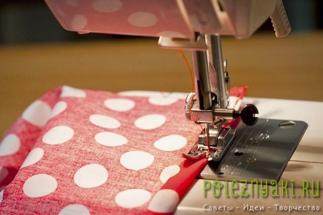 Сшейте мешочек для домино на швейной машинке