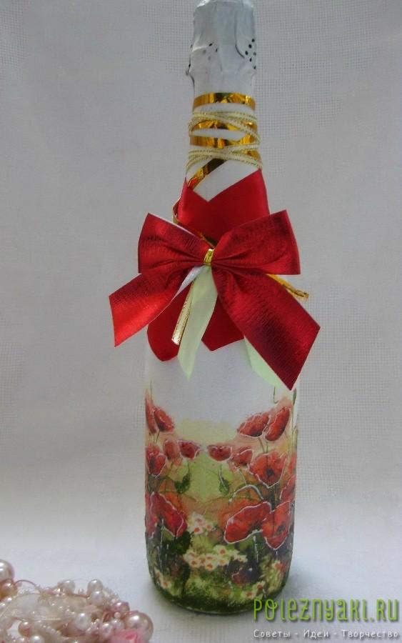 декупаж бутылки111