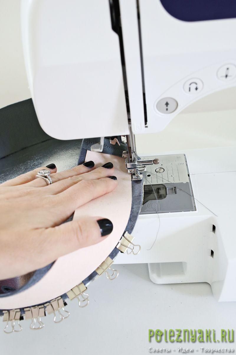сшиваем обе части на швейной машинке