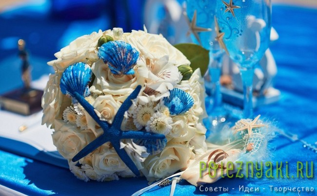 20 идей для свадебных букетов в пляжном стиле 11