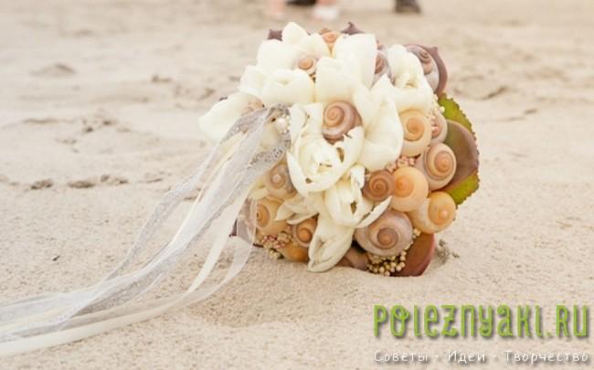 20 идей для свадебных букетов в пляжном стиле 15