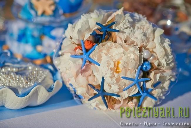 20 идей для свадебных букетов в пляжном стиле 17