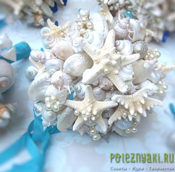 20 идей для свадебных букетов в пляжном стиле 3