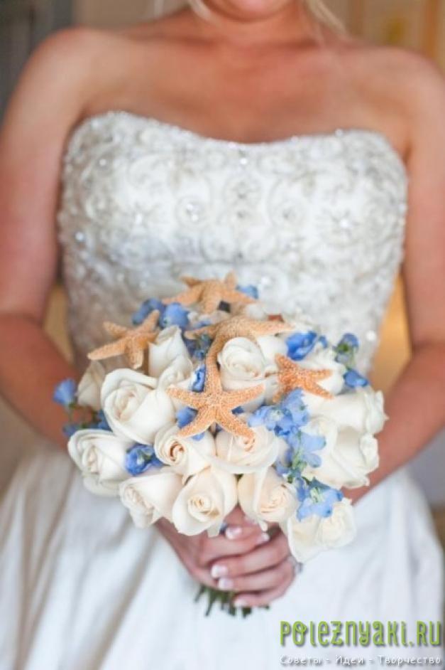 20 идей для свадебных букетов в пляжном стиле 7