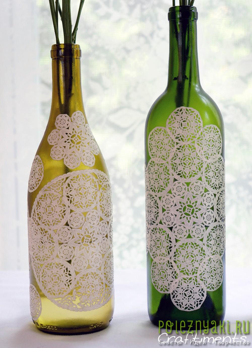 Идеи декупажа бутылок 4
