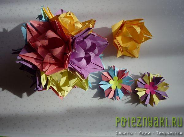 модульных оригами-цветов