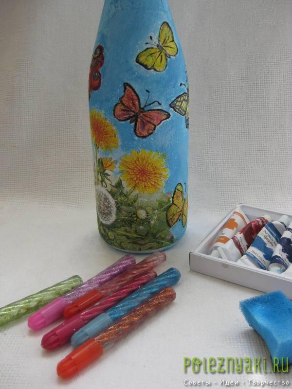 Закрасить фон бутылки