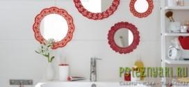 Как украсить ванную комнату симпатичными настенными зеркалами