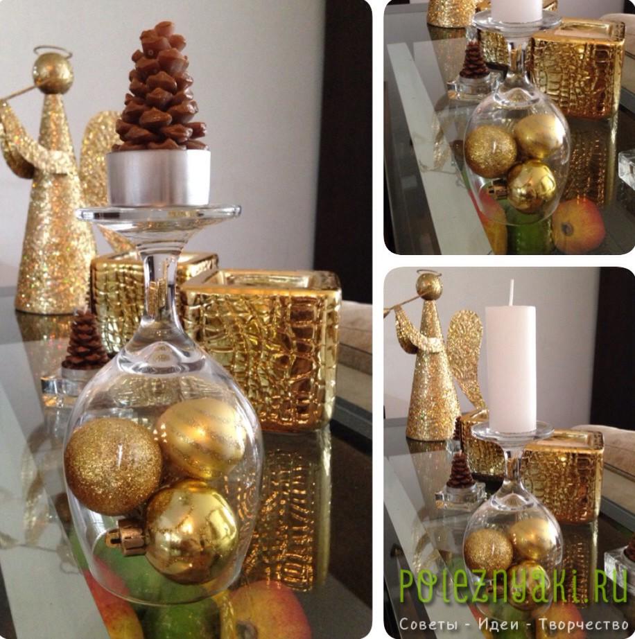 Новогодние декорации из подручных вещей