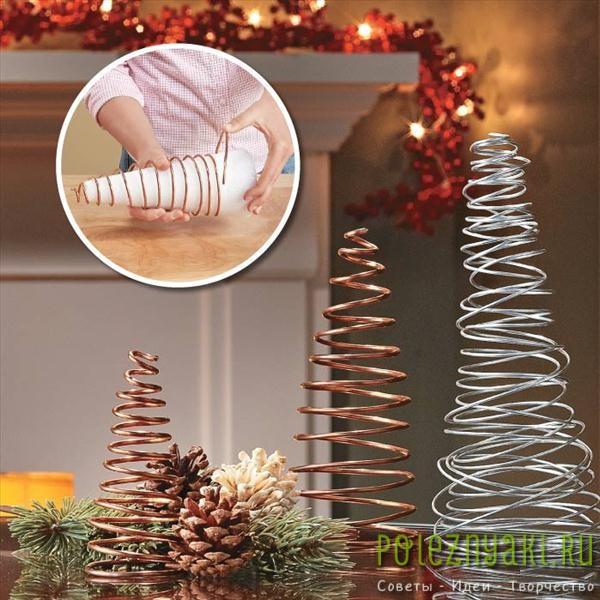 Новогодняя елка своими руками из проволоки