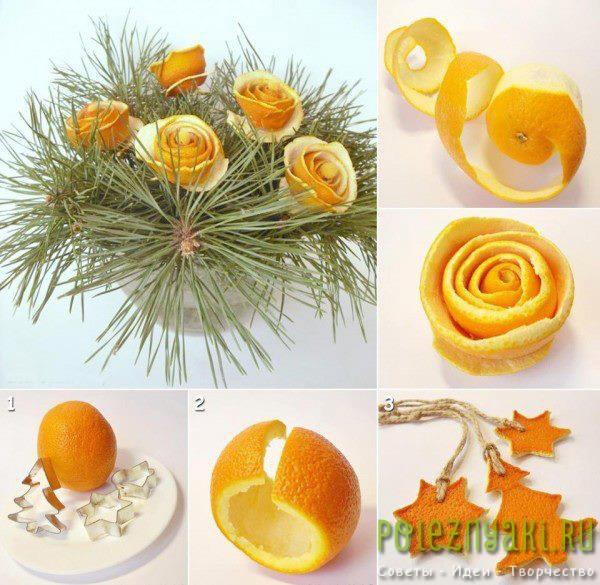 Новогодняя гирлянда сделанная своими руками из шкурок мандарина