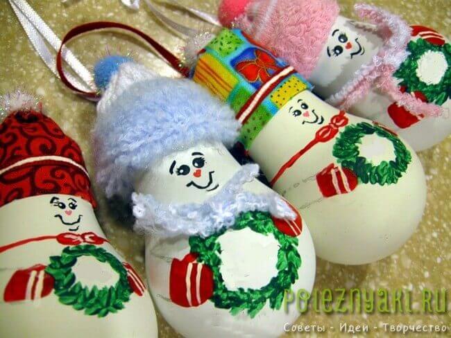 Лампочки как новогодние украшения сделанные своими руками 3