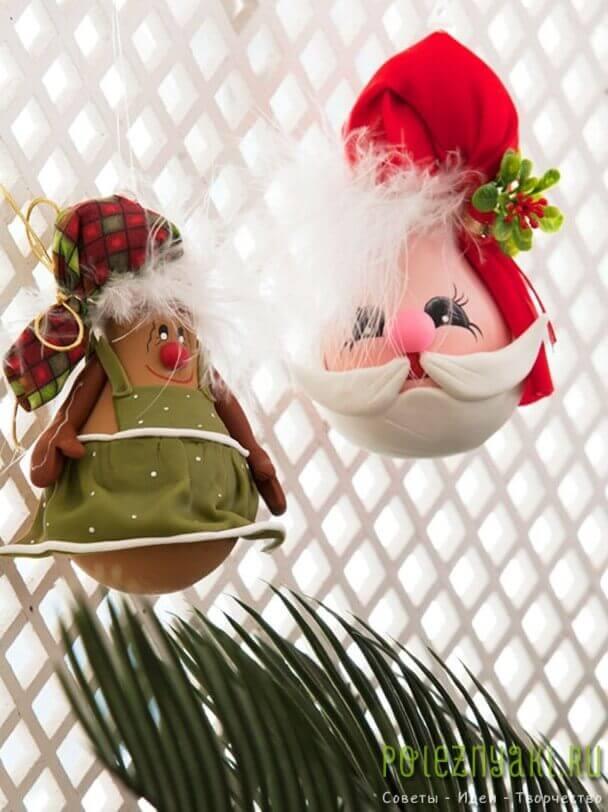самодельное рождественское украшение