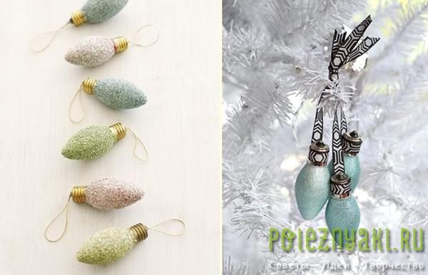 сделай сам рождественские идеи созданию украшений из лампочек 13